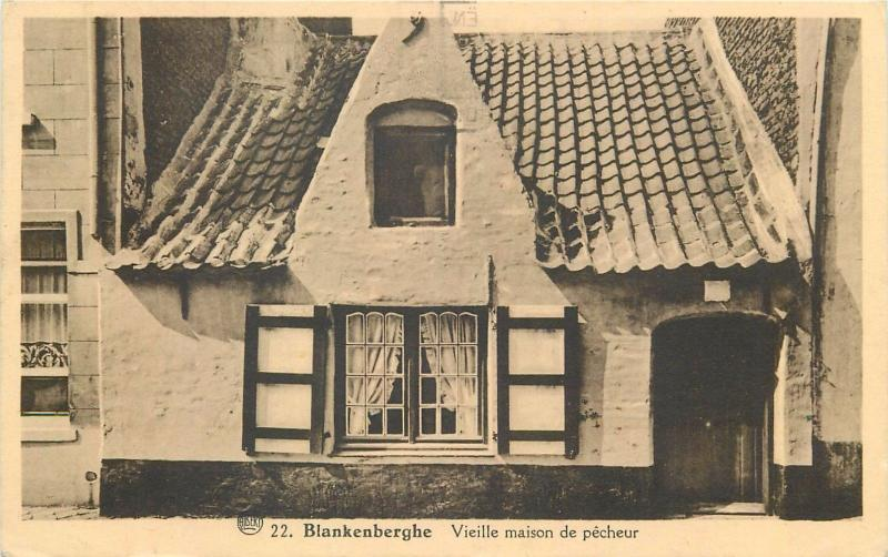 Blankenberghe Belgium fisherman old house 1938