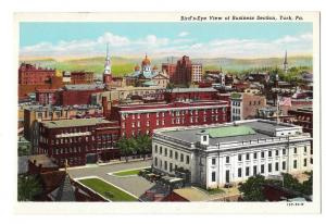 York PA Birds Eye View Business Section Stauffer Biscuit Co