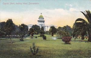 California Sacramento Capitol Park Looking West