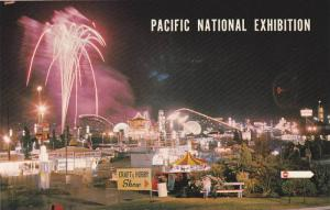 Pacific National Exhibition, Night View Of The P.N.E., Vancouver, British Col...