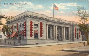 Allentown Pennsylvania~US Post Office~Greek Ionic Columns~Red/White Awnings~1917