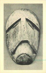 Crying Mask wood Eskimo Portland Oregon Postcard Merriden Gravure 21-3472