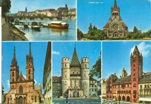 Switzerland, Suisse, Greetings from Basle, Basel, 1979 used