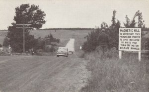 MONCTON, New Brunswick, Canada, 1952; The Magnetic Hill