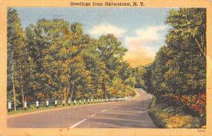 Haverstraw New York Scenic Roadway Greeting Antique Postcard K431426