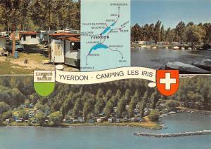 Switzerland Yverdon Camping Les Iris Lake General view