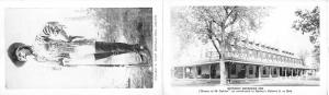 William F. Cody (Buffalo Bill) double attached postcard PU Unknown