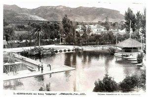 Mexico Tehuacan Alberca Playa Del Hotel Penafiel RPPC Postkarte
