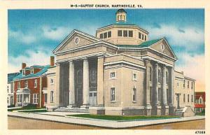 Linen of Baptist Church Martinsville Virginia VA