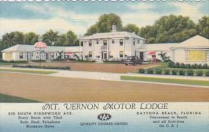 Florida Daytona Mt Vernon Motor Lodge Curteich