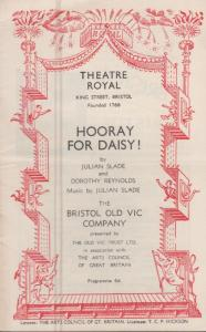 Leonard Rossiter Hooray For Daisy Rising Damp Comedy Bristol Theatre Programme
