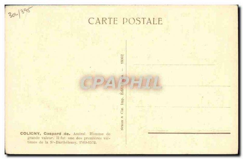 Postcard Old Coligny 1519 1572
