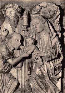 Schnitzrelief: Anbetung der Koenige Holz, Dom Erfurt Cathedral