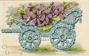 CHRISTMAS : Flower wagon , PU-1910