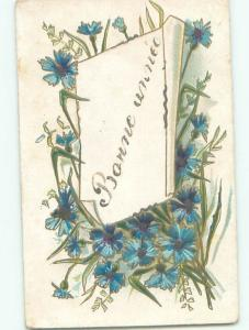 Very Old Foreign Postcard BEAUTIFUL FLOWERS SCENE AA4696