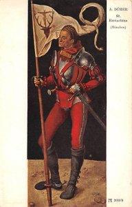 A Durer St. Eustachius Postcard Unused