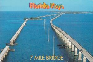 Florida Keys The 7 Mile Bridge Aerial View