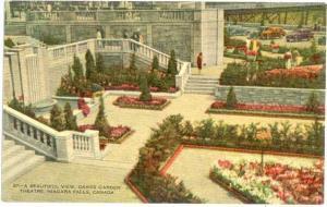 Oakes Garden Theatre, Niagara Falls Ontario Canada Divided Back
