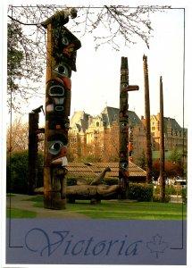 Canada - BC, Victoria. Thunderbird Park, Totem Poles