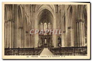 Postcard Old Troyes Interior of the Cathedral