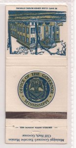 Matchbook Cover ! Office of the Governor of Mississippi !