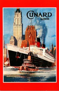 Advertisiong Cunard Line Queen Mary Marine Art Poster Collection
