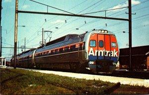 Trains Amtrak's Metroliner Locomotive Number 830 Philadelphia To Harrisburg