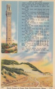 PROVINCETOWN, CAPE COD, Massachusetts, 1930-40s; Pilgrim Memorial Monument & ...