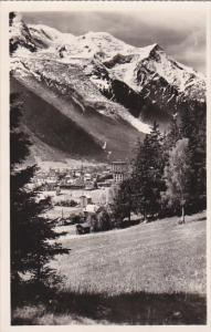 France Chamonix Mont Blanc Vue sur le Mont Blanc Real Photo