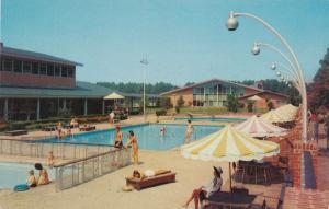 Three Swimming Pools at Motor House Motel - Williamsburg VA, Virginia