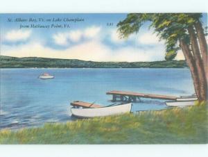 Linen LAKE SCENE St. Albans Vermont VT AE4603