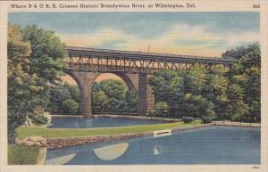 Where B & O R R Crosses Historic Brandy Wine River At Wilmington Delaware