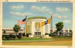NY - 1939 New York World's Fair. Administration Building