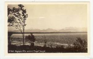 RP, Olympic Mts. Across Puget Sound, Washington, 1930-1950s