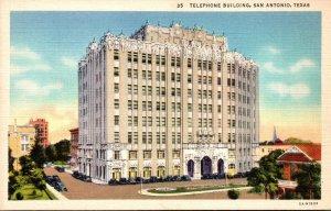 Texas San Antonio Telephone Building Curteich