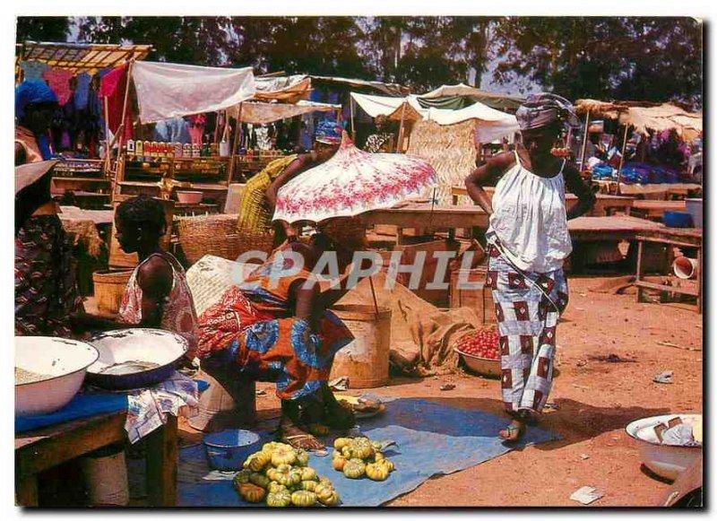 Postcard Modern Repbulique Popular Benin Marche
