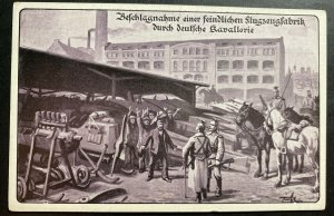Mint Germany Picture Postcard PPC confiscation of an enemy aircraft factory B