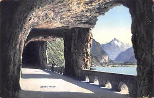 Switzerland Old Vintage Antique Post Card Axenstrasse Unused
