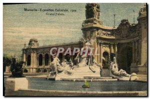 Old Postcard Marseilles Colonial Exhibition 1922 Grand Palais