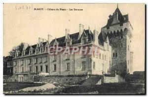 Postcard Old Chateau du Plessis Blanzy Les Terrasses