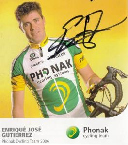 Enrique Jose Gutierrez Cycling Cyclist Champion Phonak Team Hand Signed Photo
