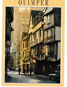 Post Card France Quimper La Bretagne en Couleur Le rue Kereon