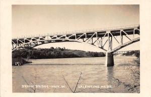 D55/ Valentine Nebraska Ne Photo RPPC Postcard c1950s Bryan Brdge Highway 20