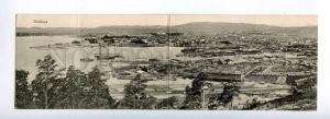 190913 NORWAY OSLO Christiania Vintage panoramic postcard