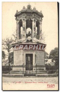 Old Postcard Chateau d & # 39eau Monument Darcy Dijon