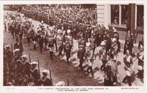 RP, The Funeral Procession Of The Late King Edward VII, Royal Mourners At Win...