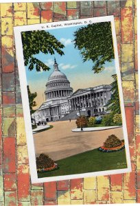 U.S. Capitol, Washington, DC, White House Postcard, Scenic View, Historic