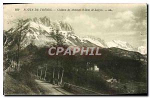Postcard Old Route Thones Chateau de Menthon and Dent Lanjon