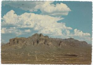 Superstition Mountains, Mesa, Arizona, 1972 used Postcard