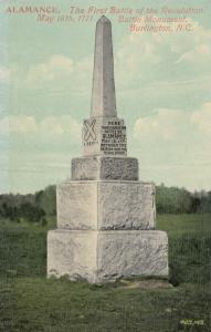 BURLINGTON, NC, 00-10s;ALAMANCE, First Battle of the Revolution, Battle Monument